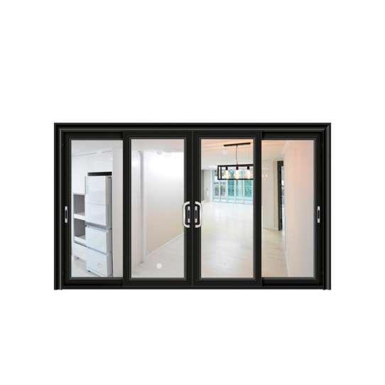 China WDMA Guangdong Art Deco Style Shock Absorber Design Almirah Door Builders Warehouse Single Panel Sliding Exterior Door With Mosquito
