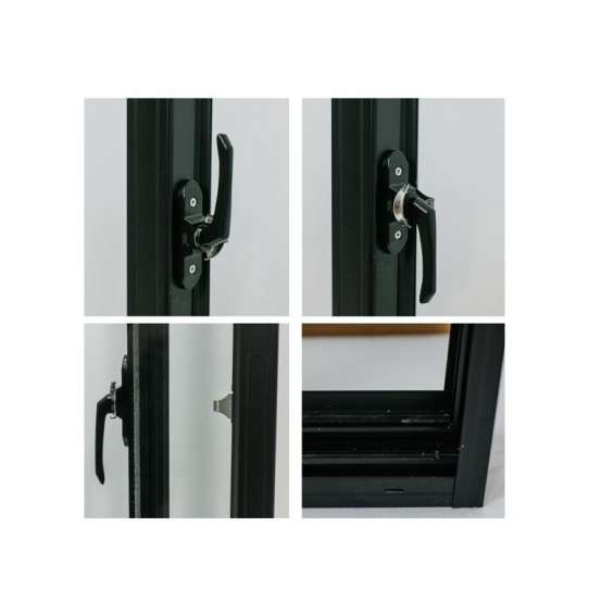 China WDMA Guangzhou Wood Look Finish Aluminium Sliding Wood Window Door With Mosquito Net Grill Design