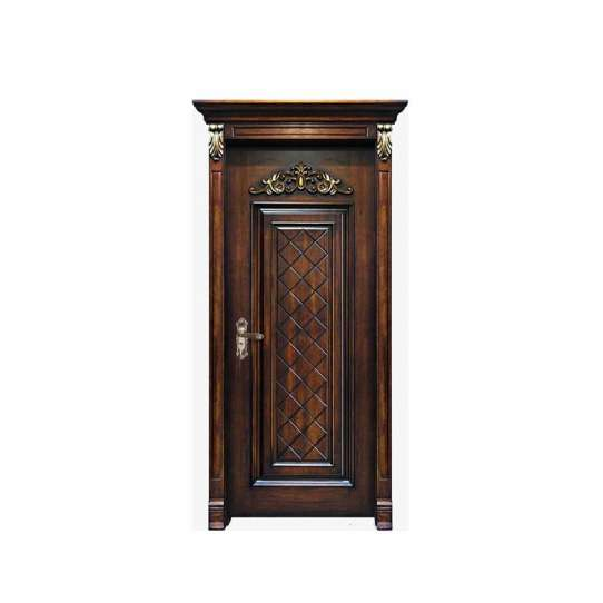 WDMA Hand Carved Single Wooden Door Design With Frame