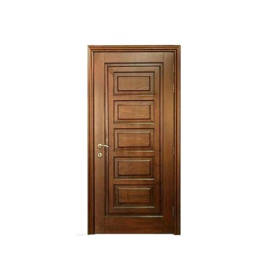 WDMA Handmade Carving wooden door with glass design