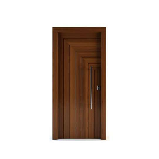China WDMA Handmade Carving wooden door with glass design