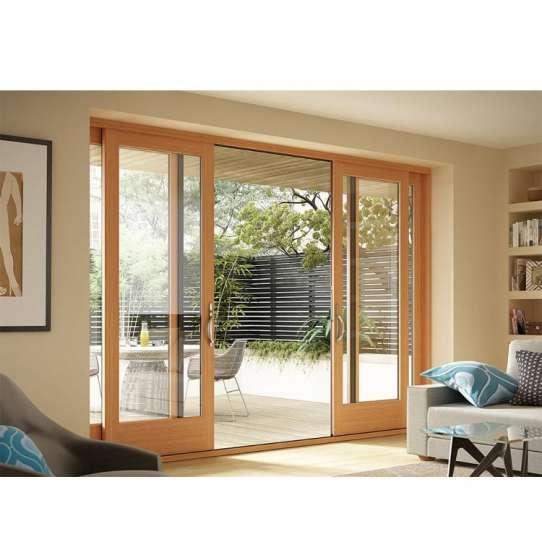 WDMA Highest Level Quality Narra Cedar Wood Soft Close Kitchen Entrance Sliding Door