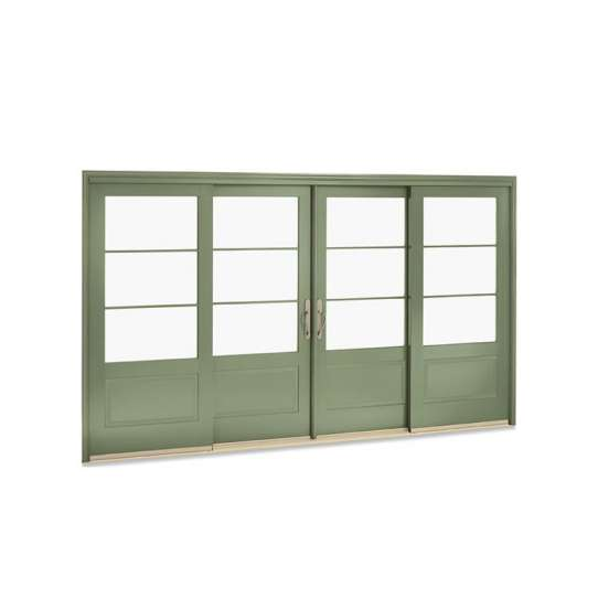 China WDMA Highest Level Quality Narra Cedar Wood Soft Close Kitchen Entrance Sliding Door