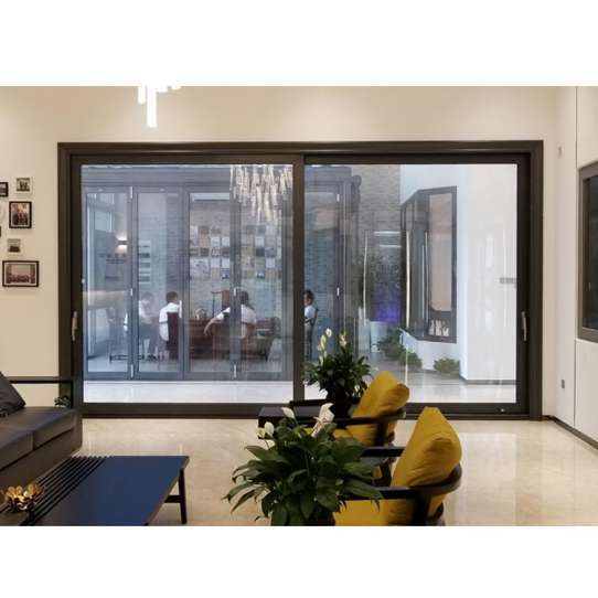 WDMA House Front Flexible Standard Width Aluminium Lift Sliding Glass Door Model Size With Grill Design