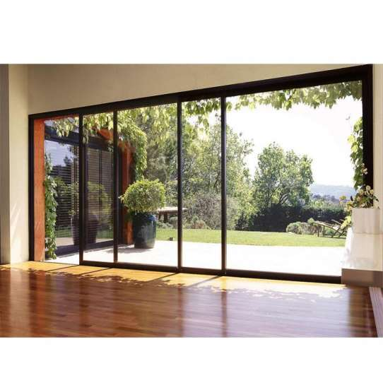 China WDMA House Front Flexible Standard Width Aluminium Lift Sliding Glass Door Model Size With Grill Design