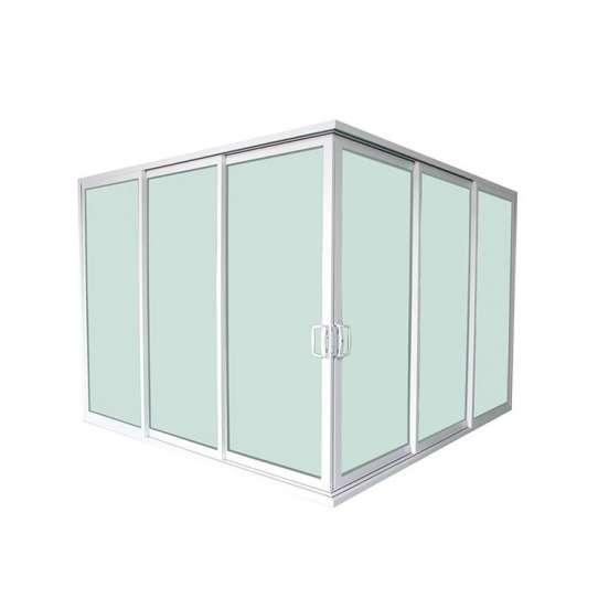 China WDMA Hurricane Impact Florida Building Code Tempered Glass Aluminum Profile Basement Corner Sliding Door