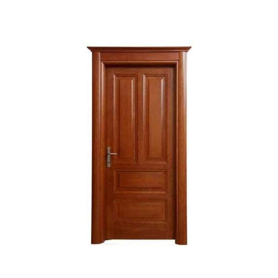 China WDMA teak wood doors polish color Wooden doors