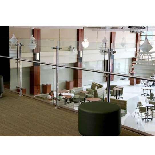 WDMA 10mm thick frameless glass balcony railing
