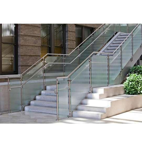 WDMA 10mm thick frameless glass balcony railing Balustrades Handrails