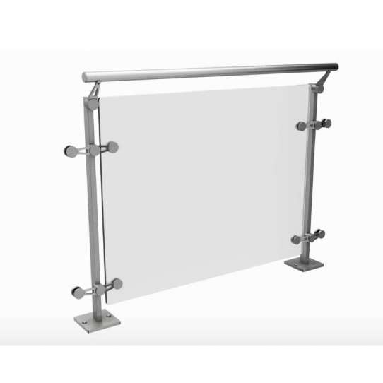 China WDMA 10mm thick frameless glass balcony railing Balustrades Handrails