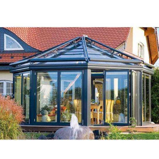 WDMA Insulated Glass Conservatory Rooms For Gardens