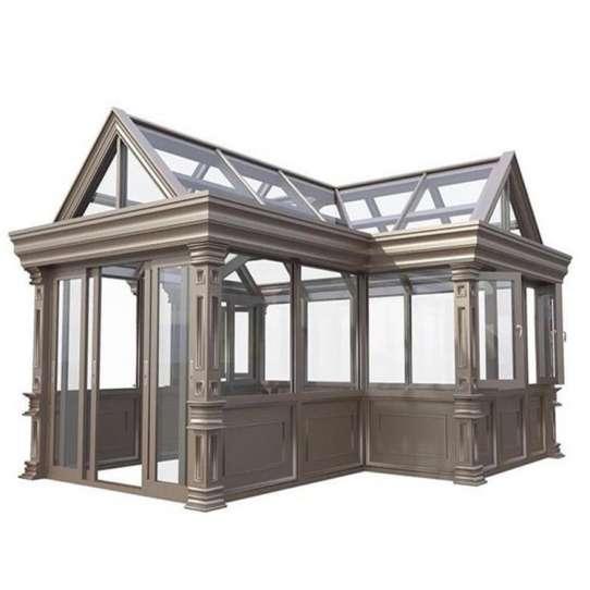 China WDMA insulated glass rooms Aluminum Sunroom