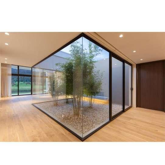 China WDMA Intelligent House Floor To Ceiling Staircase Beveled Aluminum Fixed Glass Glider Window Sash Georgian Windows Design Cost
