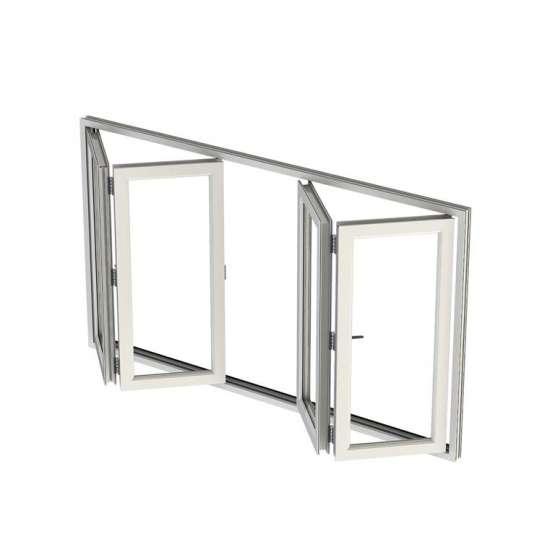 China WDMA folding glass windows Aluminum Folding Window