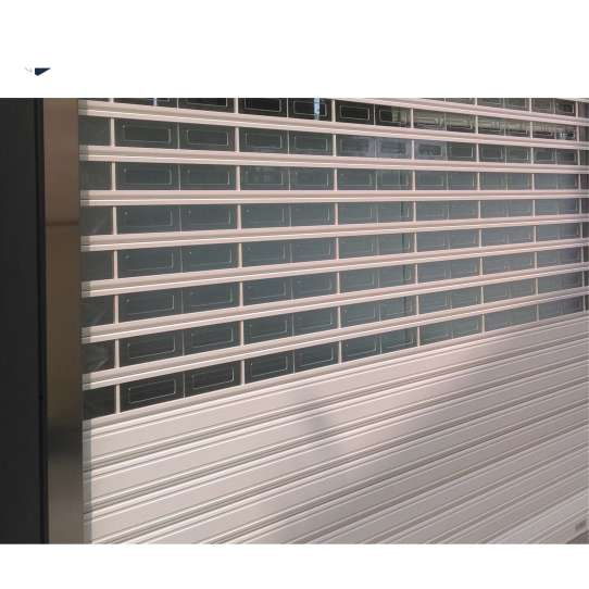 WDMA Interior Commercial Acrylic Glass Polycarbonate Transparent Roller Shutter Door Electrical Roller Shutter Door