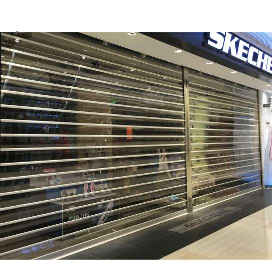 WDMA Acrylic Polycarbonate Transparent Roller Shutter Door
