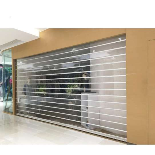 China WDMA Interior Commercial Acrylic Glass Polycarbonate Transparent Roller Shutter Door Electrical Roller Shutter Door