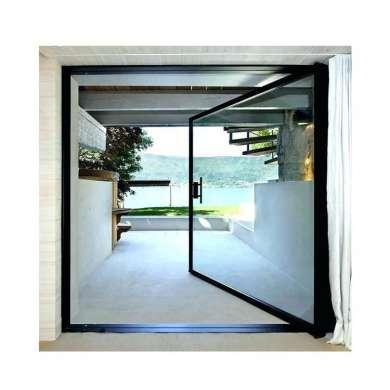 WDMA Interior Exterior Entry Aluminium Metal Pivot Front Glass Door System