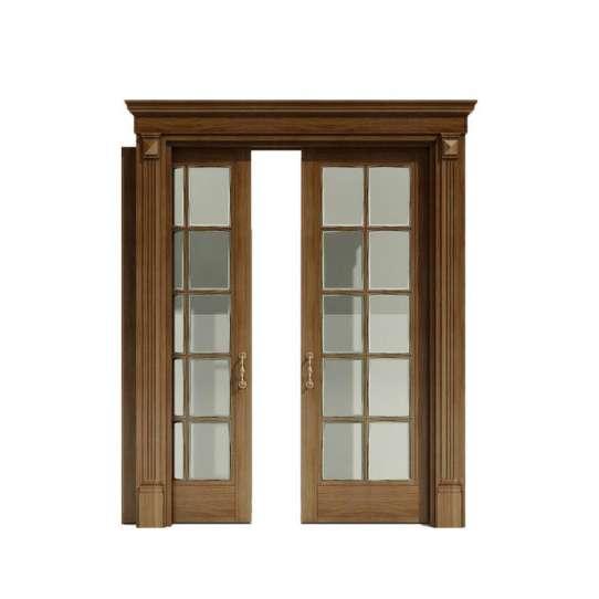 WDMA Interior Glass Kitchen Wood Pocket Door Design