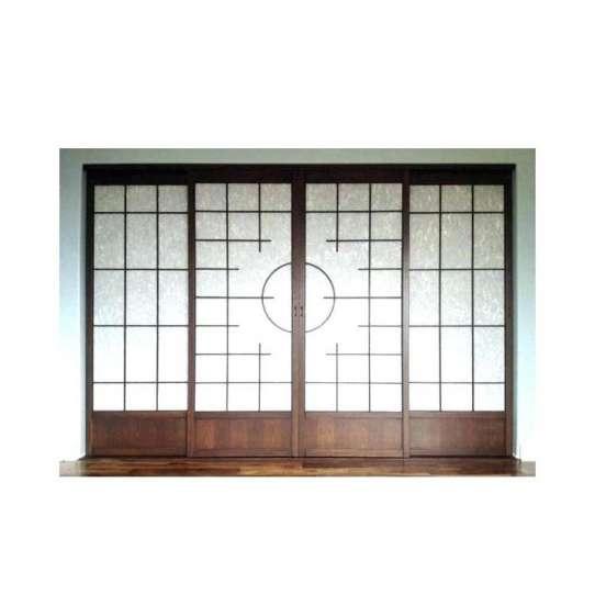 China WDMA Interior Glass Kitchen Wood Pocket Door Design
