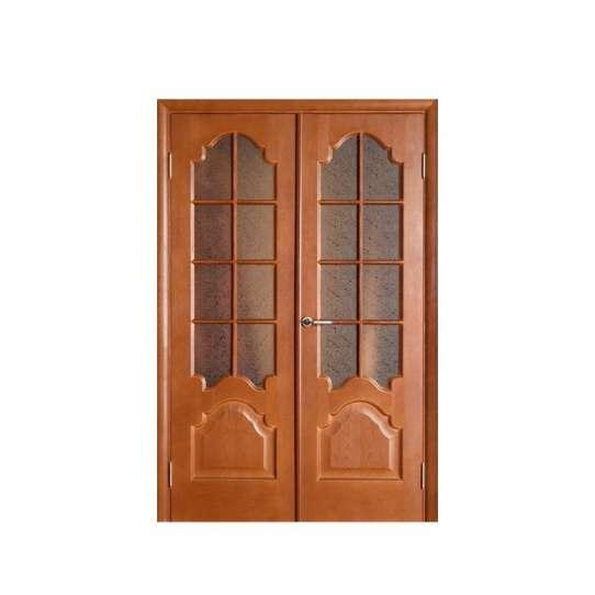 WDMA Interior Glass Wooden Door For Bedroom Design