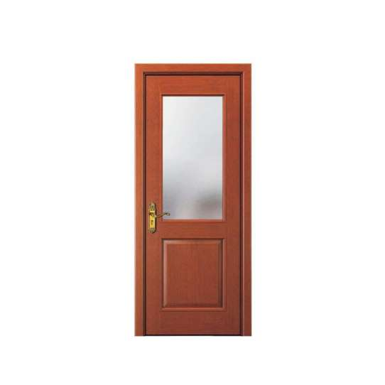 China WDMA Interior Glass Wooden Door For Bedroom Design