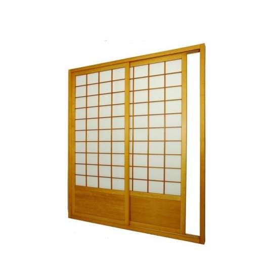 WDMA Interior Solid Wood Japanese Shoji Wood Sliding Door System