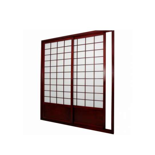 China WDMA Interior Solid Wood Japanese Shoji Wood Sliding Door System