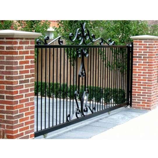 WDMA wrought iron sliding gate