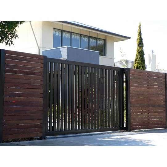 WDMA wrought iron sliding gate Steel Door Wrought Iron Door
