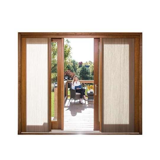 China WDMA Korean Apartments Watertight Folding Sliding Patio Beech Wood Door For Interior Room