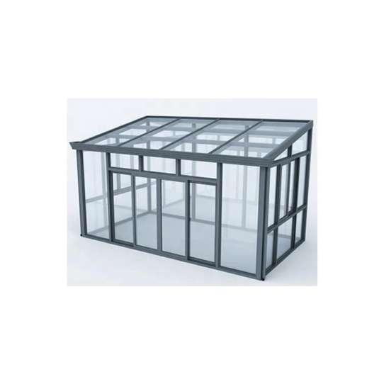WDMA Laminated Safety Glass Villa And Garden House Aluminum Sunroom