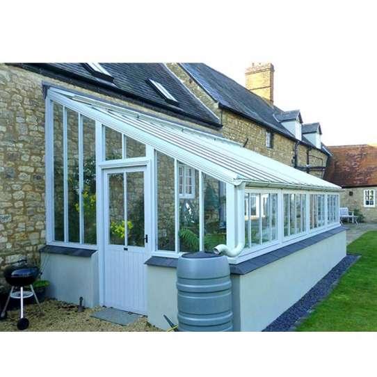 China WDMA Laminated Safety Glass Villa And Garden House Aluminum Sunroom