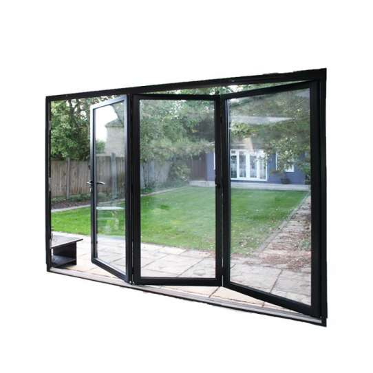 China WDMA Large Opening Space Interior Alu Profiles Soundproof Glass Folding Door