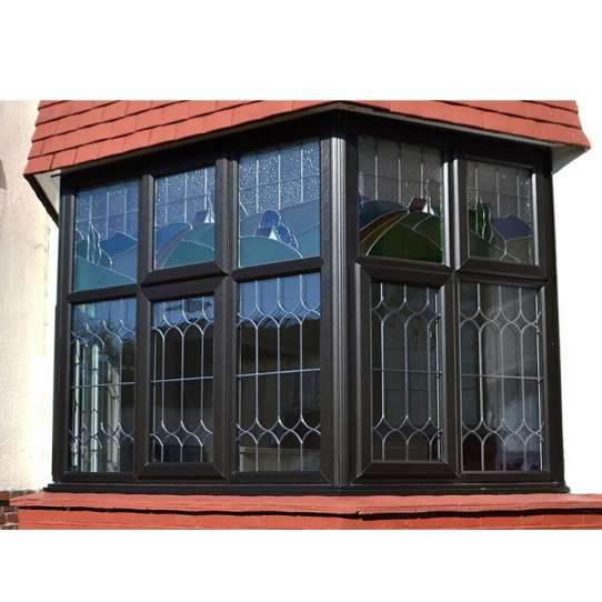 WDMA Latest Anti-theft Corner Butt Joint Standard Size Frosted Glass Home Hurricane Impact Blind Inside Aluminum Double Glass Window