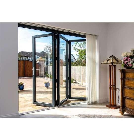 China WDMA Latest Home Design As2047 Australian Standard Aluminium Glass Folding Door