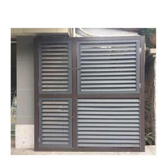 China WDMA latest aluminium windows Aluminum louver Window