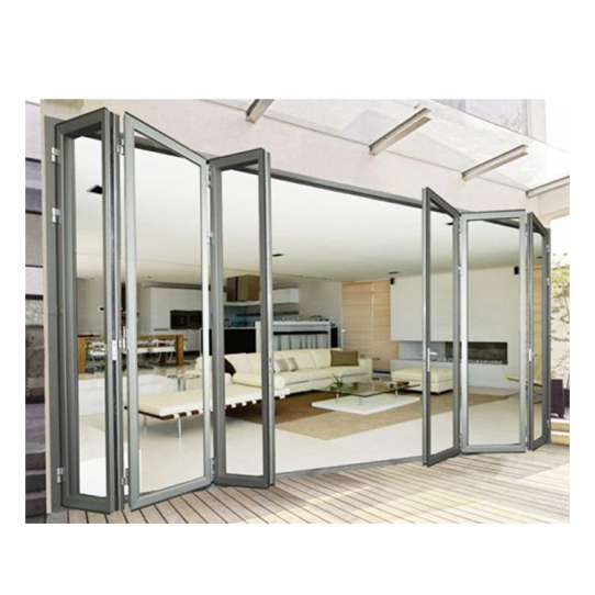 China WDMA bifolding door with movable fly screen