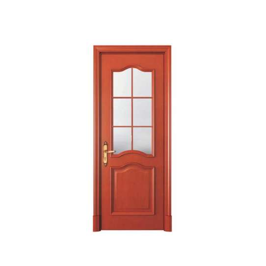 WDMA Light White Color Custom Interior Solid All Roswood Wood Door And Window Design For Houses Residential