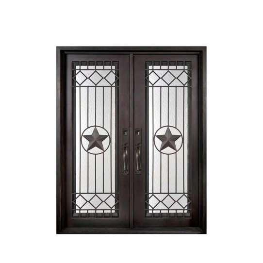 WDMA iron art door Steel Door Wrought Iron Door
