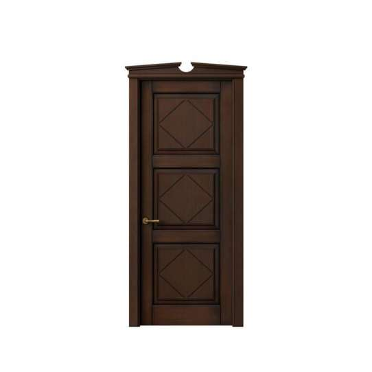 China WDMA Luxurious Luxury Classic Italian Interior Ready Made House Solid Merbau Double Wooden Mosque Acoustic Door With Decorated Glass