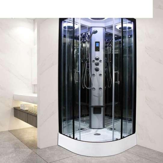 China WDMA Luxury Rose Gold Frame Complete Shower Room Shower Cabin Shower Enclosure