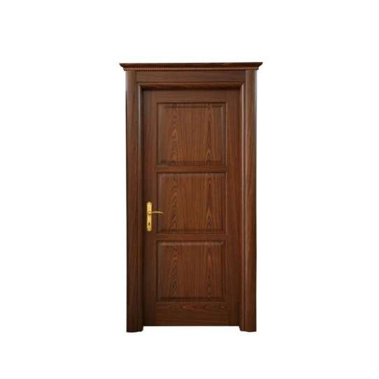 China WDMA Luxury Safety Readymade Wooden Single Leaf Glass Door For Bedrooms