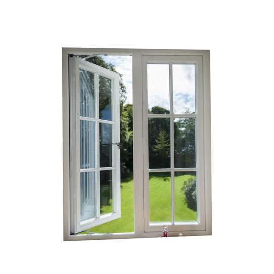 WDMA Made In China White Color Mirror Glass And Window Grill Design