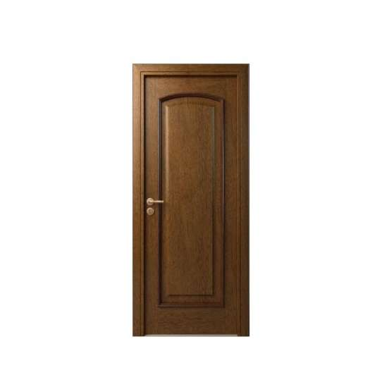 China WDMA Main Solid Wood Exterior Door With Glass Carving Design