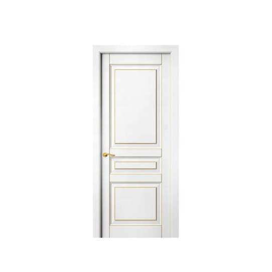 WDMA Malaysian Semi Solid Wooden Doors With Windows Pictures China Factory