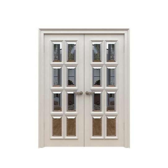 WDMA Mdf Door Material Interior Semi Solid Wooden Door