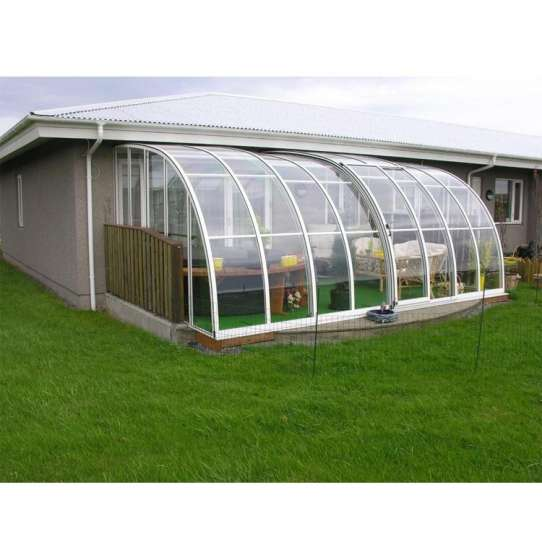 China WDMA Metal Glass Greenhouse Extension Sunroom