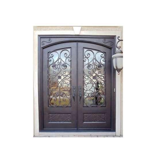 China WDMA iron door Steel Door Wrought Iron Door