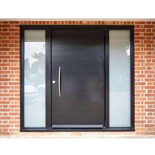 WDMA Modern Exterior Aluminium Flat Pivot Entrance Entry Door Luxury House Aluminum Pivot Front Door